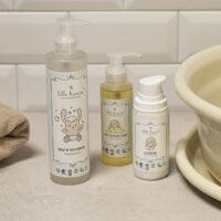Gå glad i bad med mio - shampoo, olie og lotion