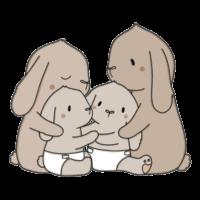 Tegnet Familien Kanin
